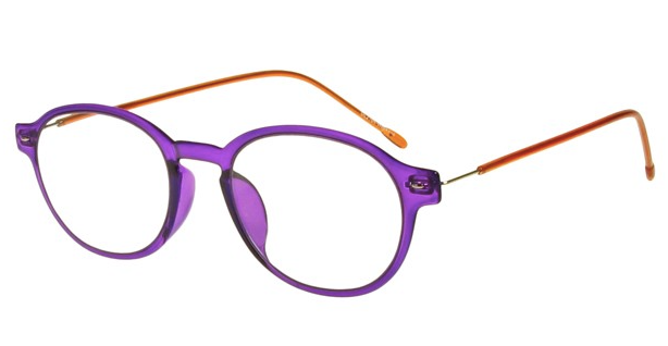 Goodlookers Reading Glasses - GL2164 'WEEKEND' PURPLE/ORANGE