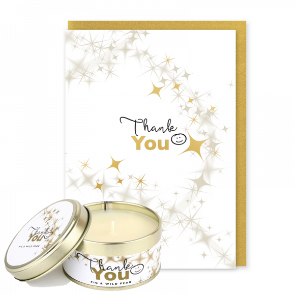 Pintail Occasion Candle & Greeting Card - Thank You