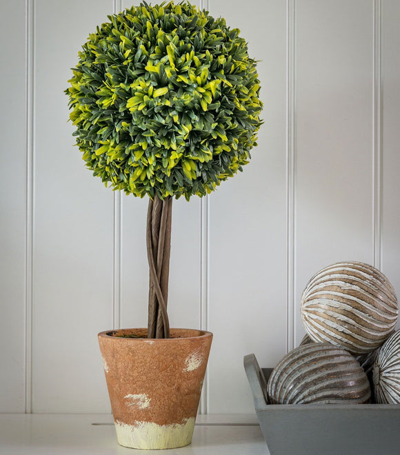Faux Topiary Ball in Pot 44cm 20SS80