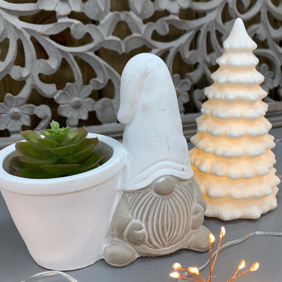 Stefan Santa Planter Pot - White
