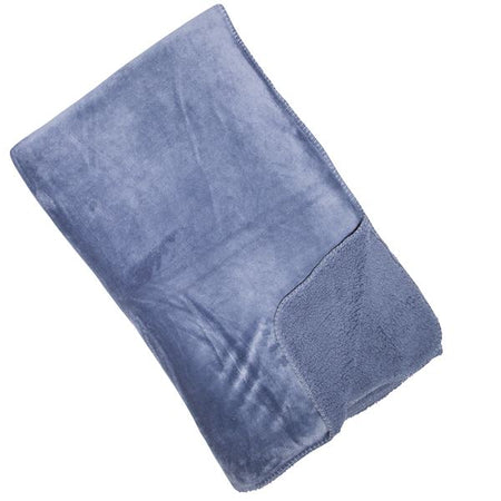 Malini Cosy Super soft Fleece throw - Blue