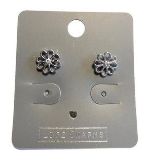 Life Charm Earrings - Pretty Flower Studs