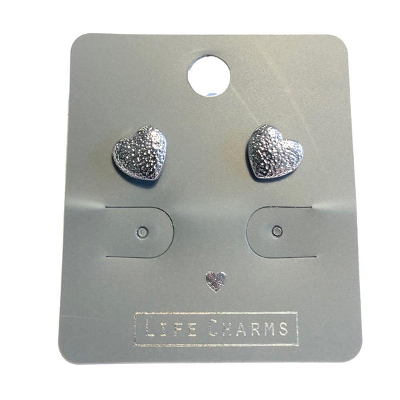 Life Charm Earrings - Sweet Heart Stud