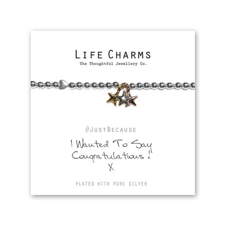 Life Charm Bracelet - I Wanted to Say Congratulations
