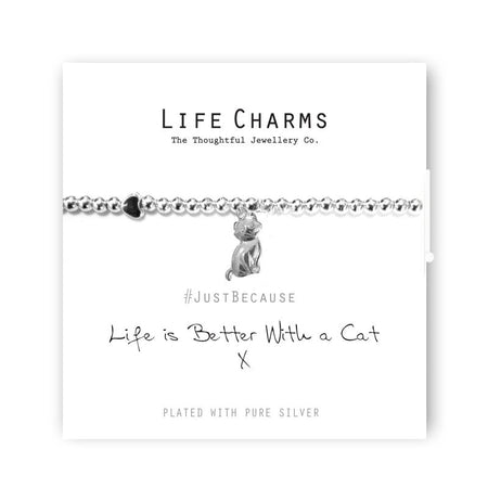 Life Charm Bracelet - Life is Better with a Cat