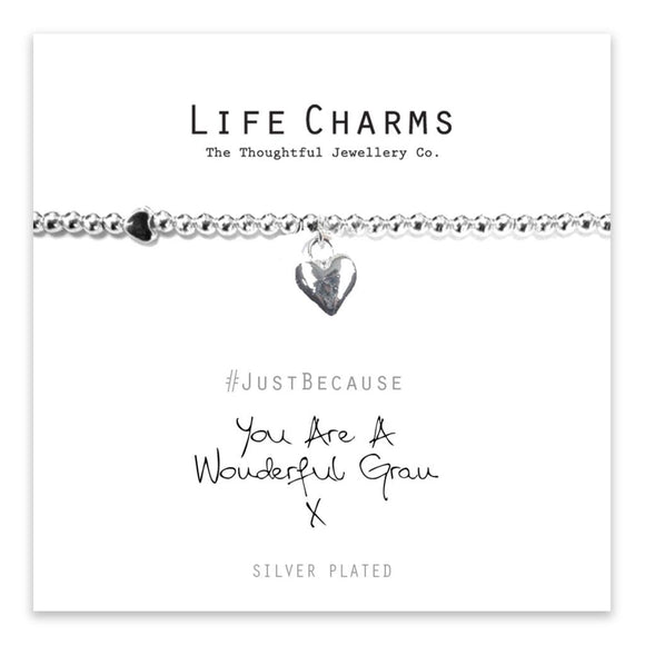 Life Charm Bracelet - You are a Wonderful Gran