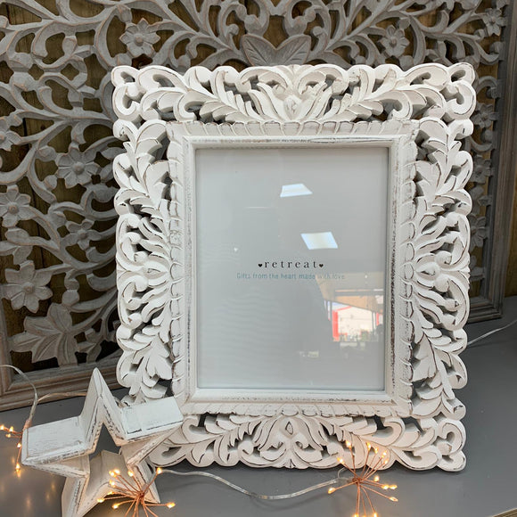 Retreat - Ornate 10x8 White Frame