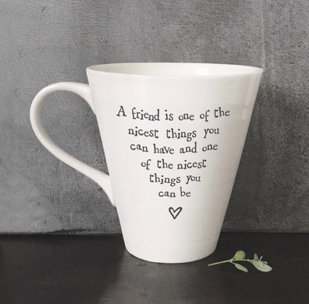 East Of India - Mug 'Friend is the nicest..'