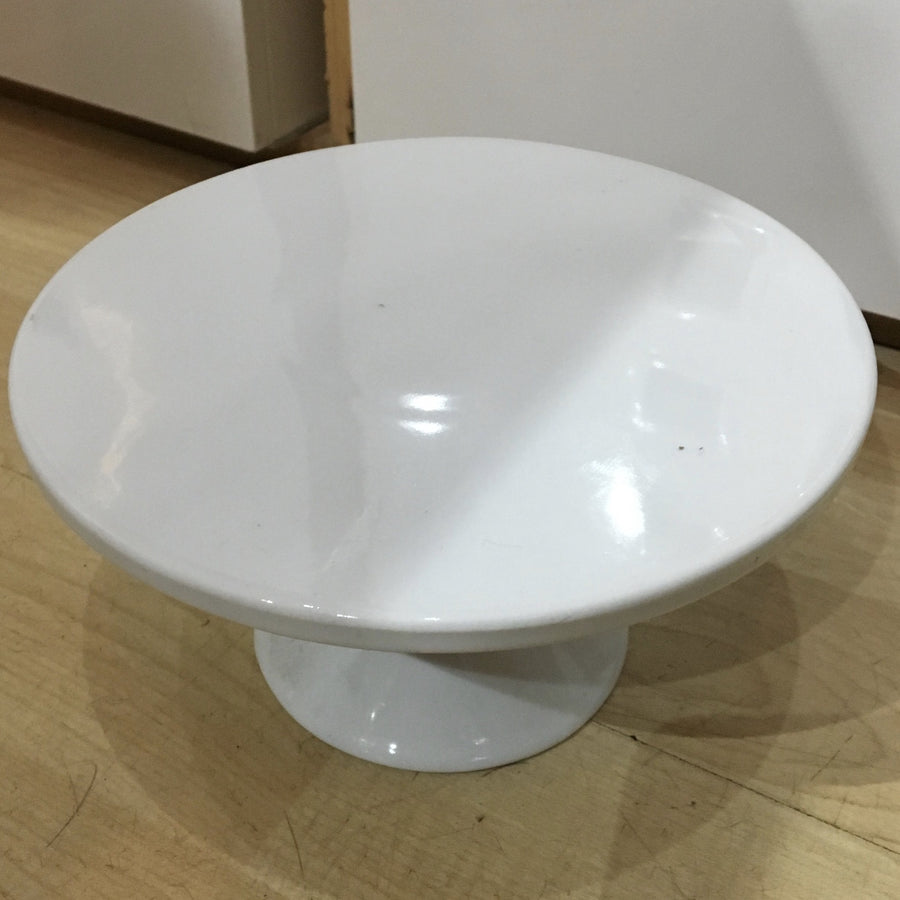 Small white porcelain cake stand