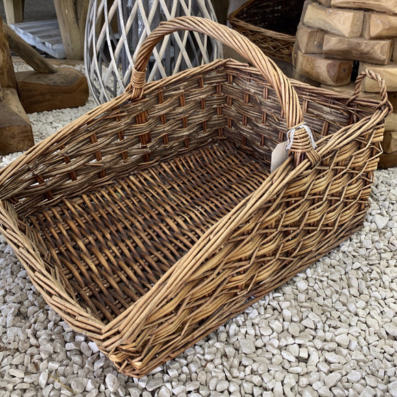 Broste Copenhagen - Dark Brown Log Wicker Basket