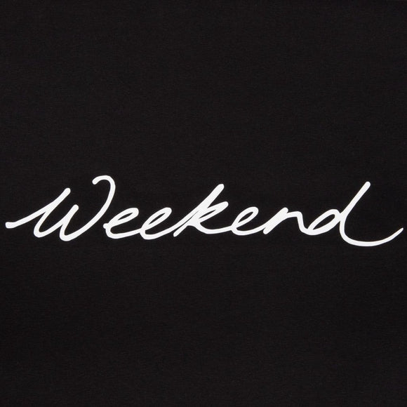 Chalk - Robyn Black Top | White 'Weekend' Embellishment