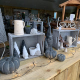 Concrete Black Pumpkins