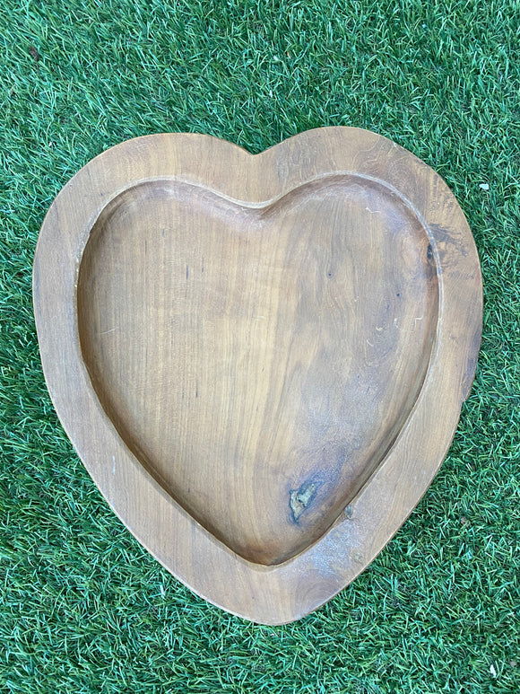 Teak Root Love Heart Bowl