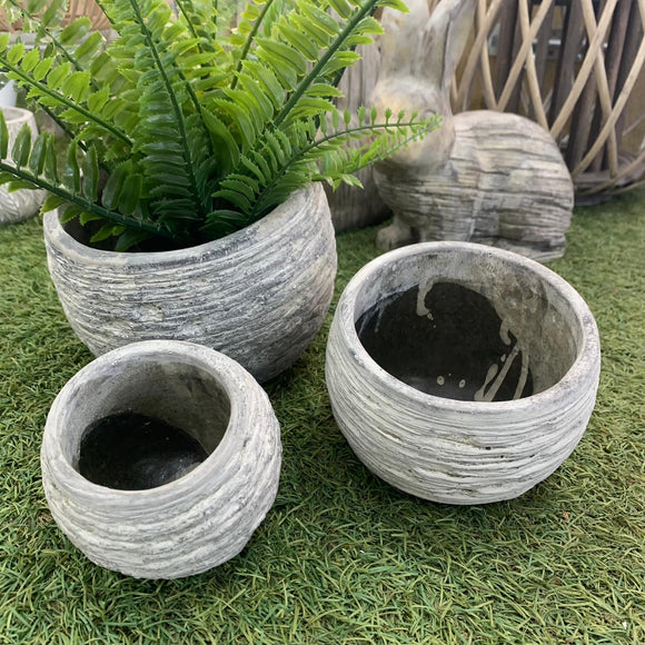 Slate Design Sloped Top Planter - 3 sizes