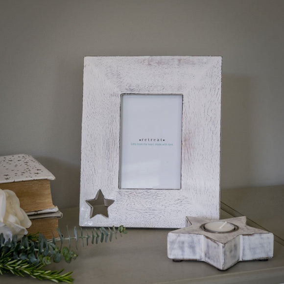 Retreat - 6x4 Star Cut Out Photo Frame