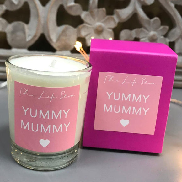 Life Store Votive Glass Filled Candle - Yummy Mummy