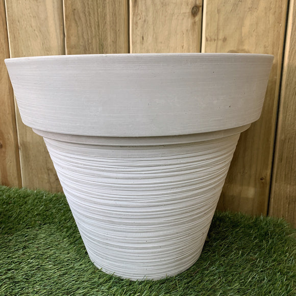 Grey Round Tapered Pot Planter