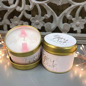 Lily Flame Scented Tin Candle - Fairy Dust