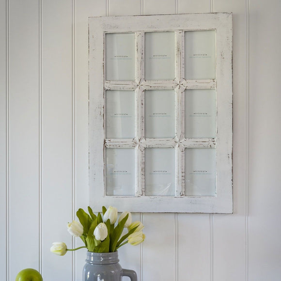 Retreat - White Windowpane Photo Frame