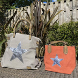 House of Milano Large Star Bag  |  Style 2253 - Light grey