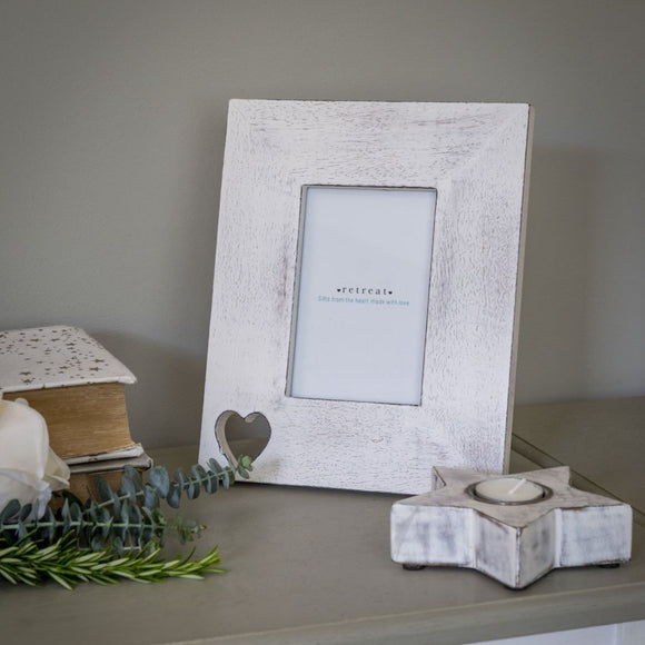 Retreat - 6x4 Heart Cut Out Photo Frame