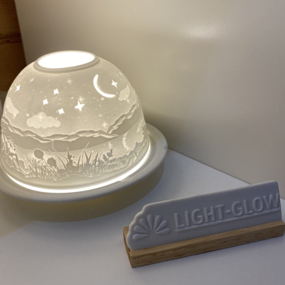 Light Glow T-light Holder - Starry Night design