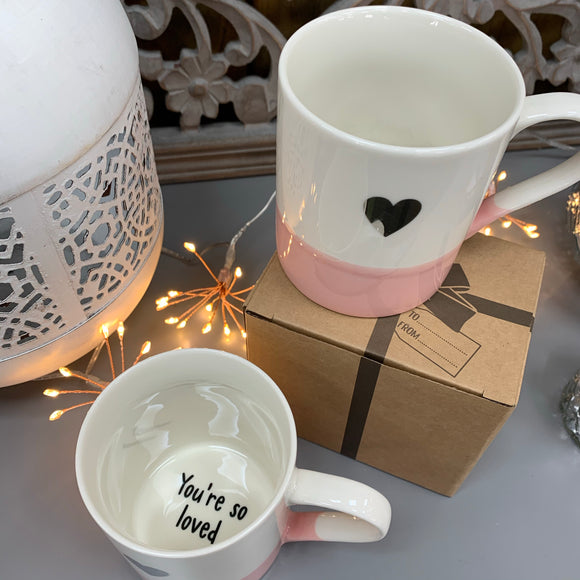 Secret Message Mug - 'You're so loved'
