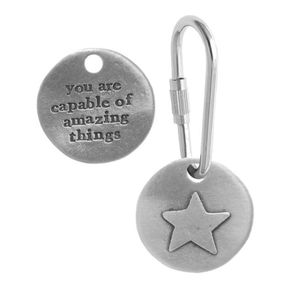 Kutuu - 'You are capable of amazing things' Keyring