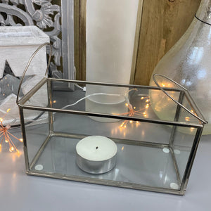 Retreat - Rectangular Glass T-Light Trough