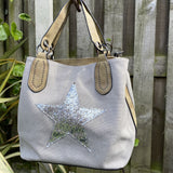 House of Milano Star Bag light grey