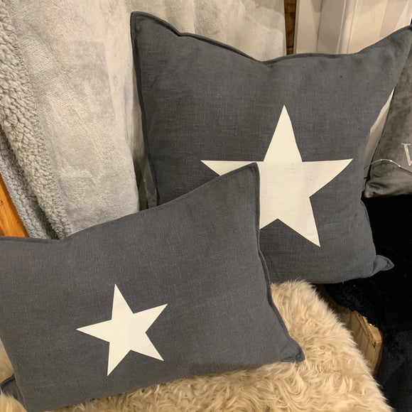 Chalk star cushion