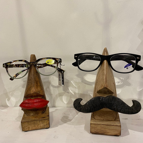Glasses Stand - Moustache & Lips