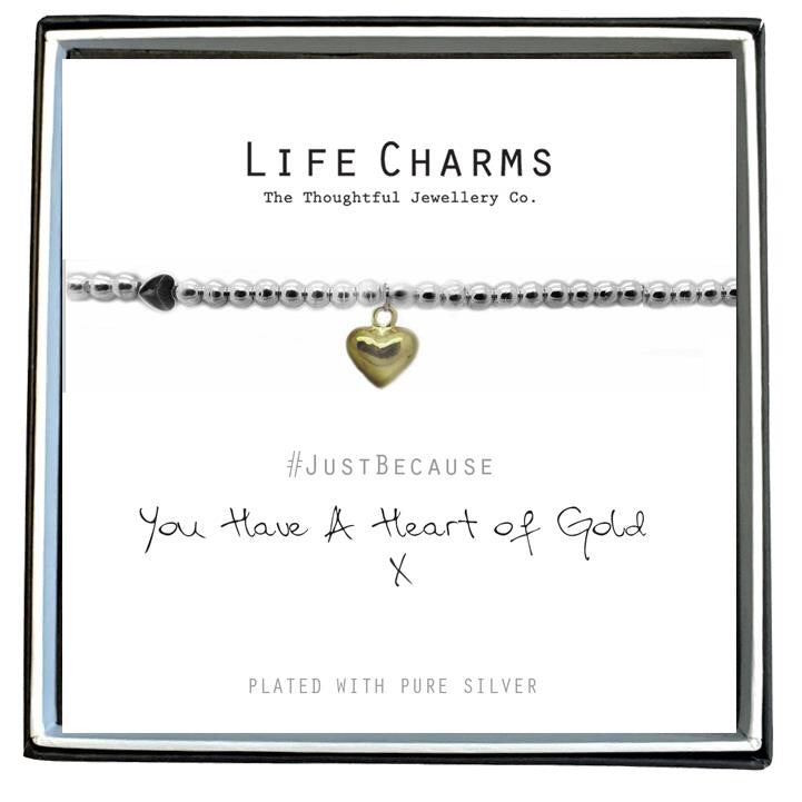 Life Charm Bracelet - You have a Heart of Gold
