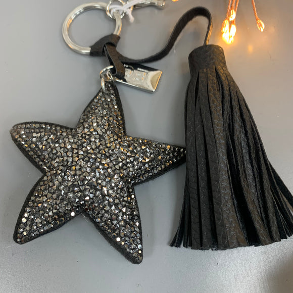 Eliza Gracious Bag Charm/Keyring - Crystal Star with Tassel