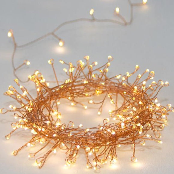 LightStyle - Cluster Copper Outdoors Light Chain (Mains or Battery)