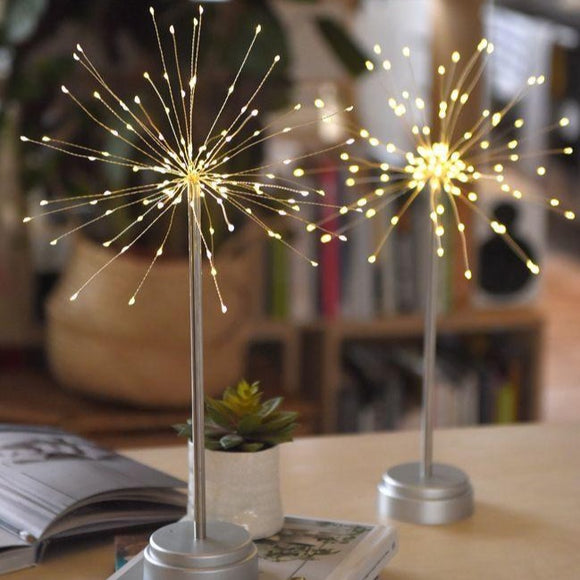 LightStyle - Starburst Silver table lamp 30cm