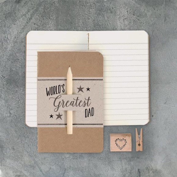 East of India - 'World's Greatest Dad' Notebook & Pen
