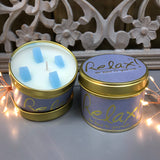 Lily Flame Scented Tin Candle - Relax