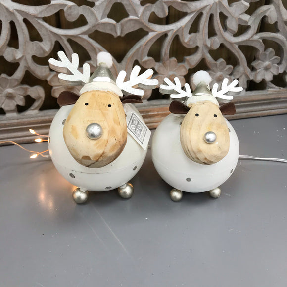 White & Silver Reindeer Ball - Small & Large