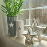 Retreat - White Star Grey Ceramic Vase
