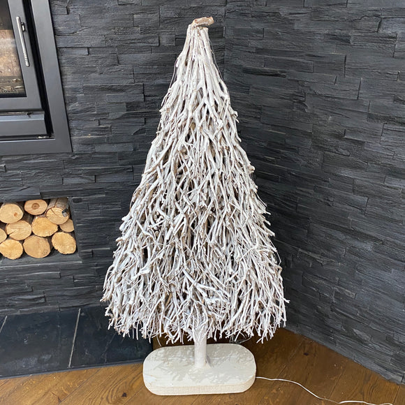 Large Christmas Whitewashed Twig Tree