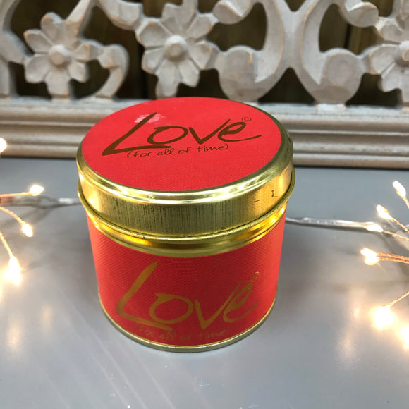 Lily Flame Scented Tin Candle - Love