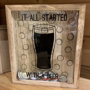 Collection Box 'It all started with a Beer'