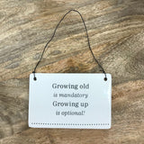 Hanging Ceramic Signs - Ageing Fun Quotes