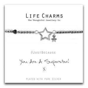 Life Charm Bracelet - You are a Super Star