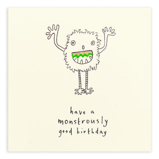 Pencil Shaving Card - Birthday Monster