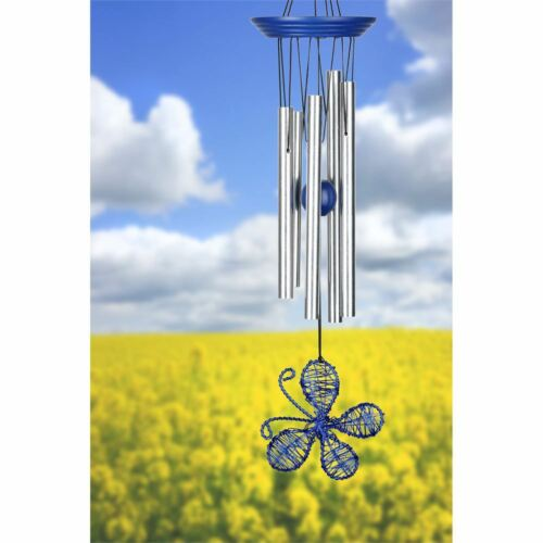 Woodstock Isabelle's Dancing Butterfly Wind Chime, Royal Blue