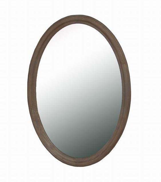 white wash oval mirror