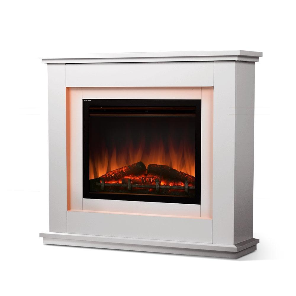 2000w Electric Fireplace Mantle Portable Fire Log Wood Heater 3d Flame