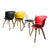 4Pcs Office Meeting Chair Set PU Leather Seats Dining Chairs Home Cafe Retro Type 2